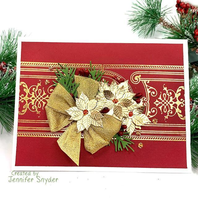 Elegant Christmas Card | Buttons Galore and More