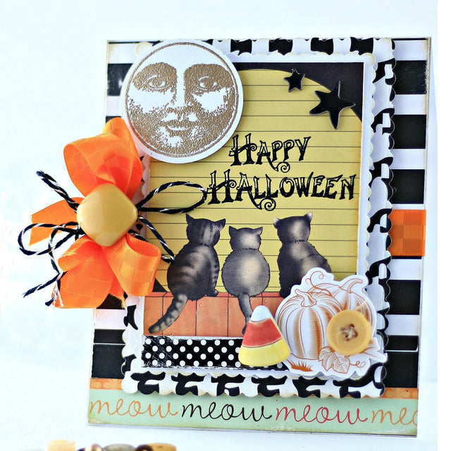 Extra Mini Tutorial: Cats Happy Halloween Card | Buttons Galore and More
