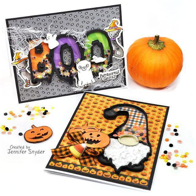 Halloween Gnome and Spooky Shaker Cards | Buttons Galore and More