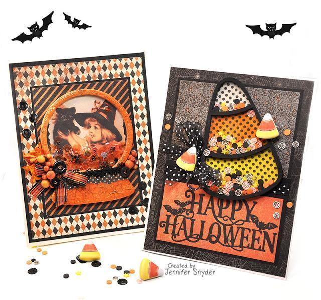Halloween Shaker Cards | Buttons Galore and More