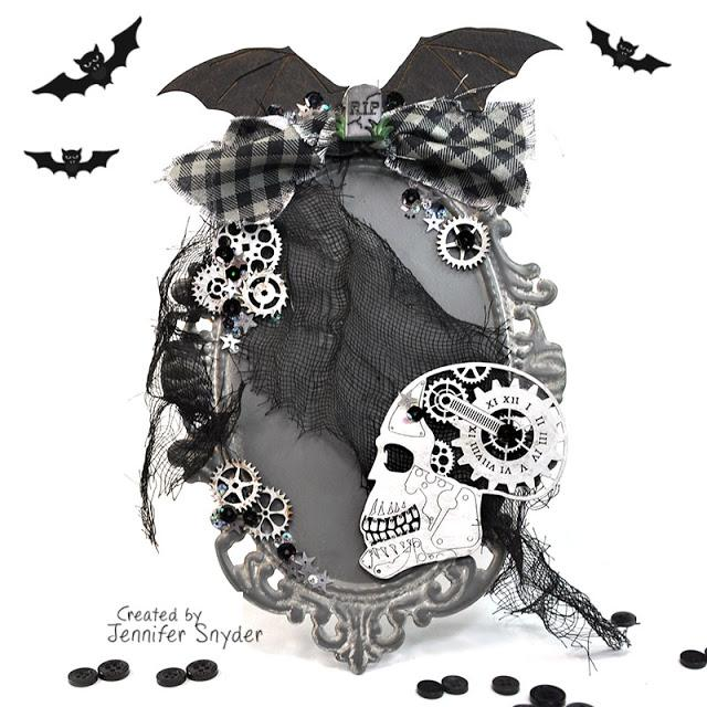 Halloween Skull Home Decor Wall Plaque | Buttons Galore and More