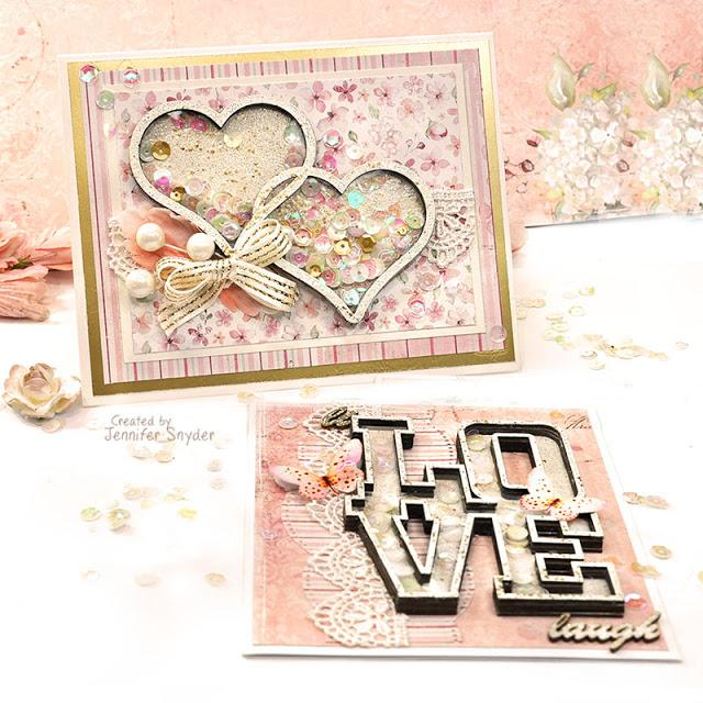 Love & Hearts-Romance Shaker Card | Buttons Galore and More