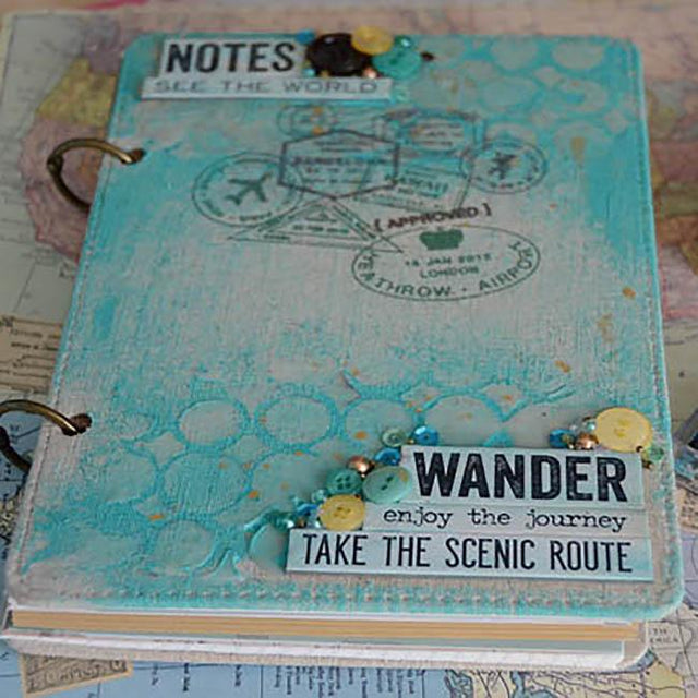 Make an Altered Notebook Travel Journal | Buttons Galore and More