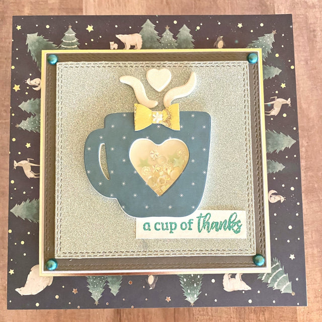 MINI Tutorial: A Cup of Thanks Card | Buttons Galore and More