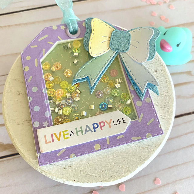 MINI Tutorial: Birthday Shaker Gift Tag | Buttons Galore and More