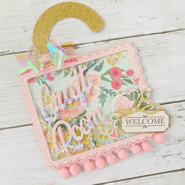 MINI Tutorial: Craft Room Door Hanger Shaker Craft | Buttons Galore and More