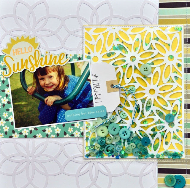 Mini Tutorial: DIY Shaker Element for Scrapbook Page | Buttons Galore and More