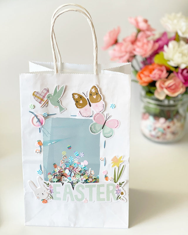 MINI Tutorial: Easter Themed shaker Gift Bag | Buttons Galore and More