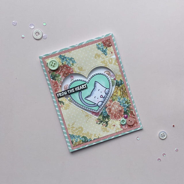 MINI Tutorial: From The Heart DIY Card | Buttons Galore and More
