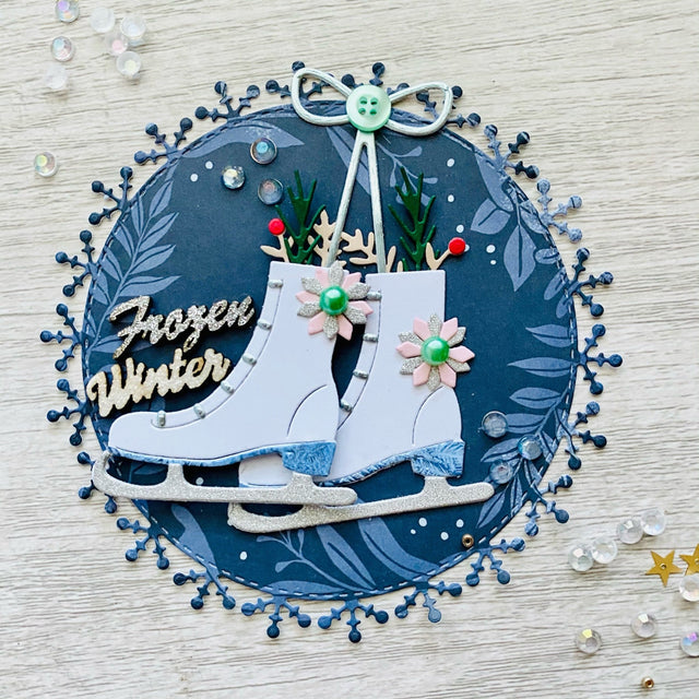 MINI Tutorial: Frozen Winter Ice Skates Tag | Buttons Galore and More