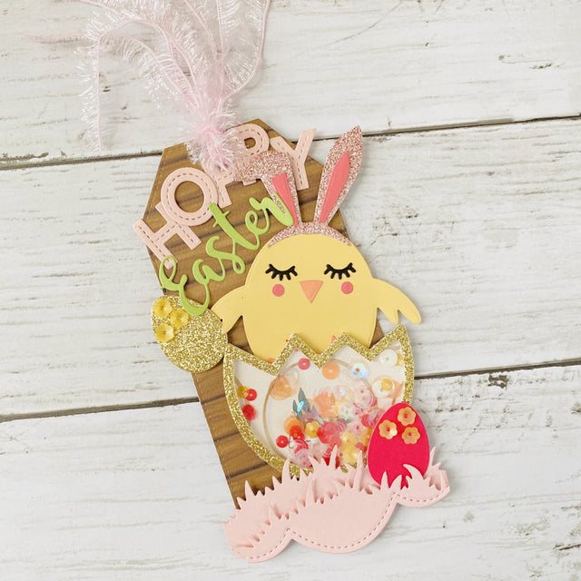 MINI Tutorial: Hoppy Easter Shaker Gift Tag | Buttons Galore and More