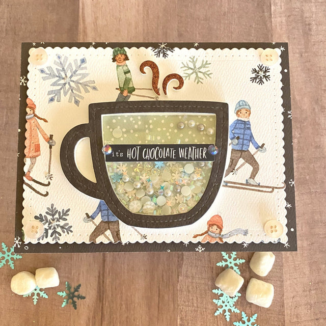 MINI Tutorial: Hot Chocolate Shaker Card | Buttons Galore and More