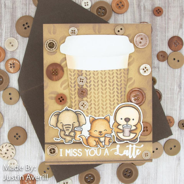 MINI Tutorial: I Miss You A Latte-DIY Card with Buttons | Buttons Galore and More