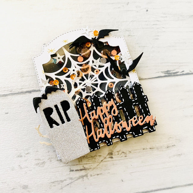 Mini Tutorial: RIP Tombstone Shaker Embellishment | Buttons Galore and More