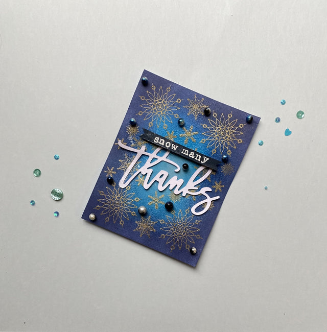 MINI Tutorial: Snow Many Thanks!- DIY Thank You Card | Buttons Galore and More