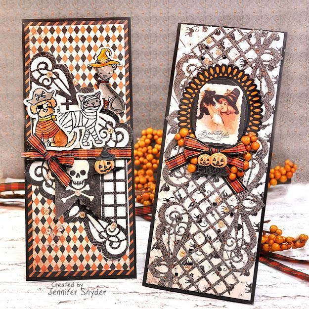 Spooky Halloween Slimline Cards | Buttons Galore and More