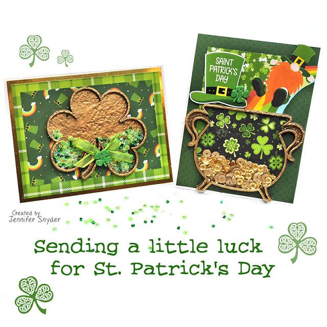 St. Patrick's Day Shaker Cards Part 1 | Buttons Galore and More