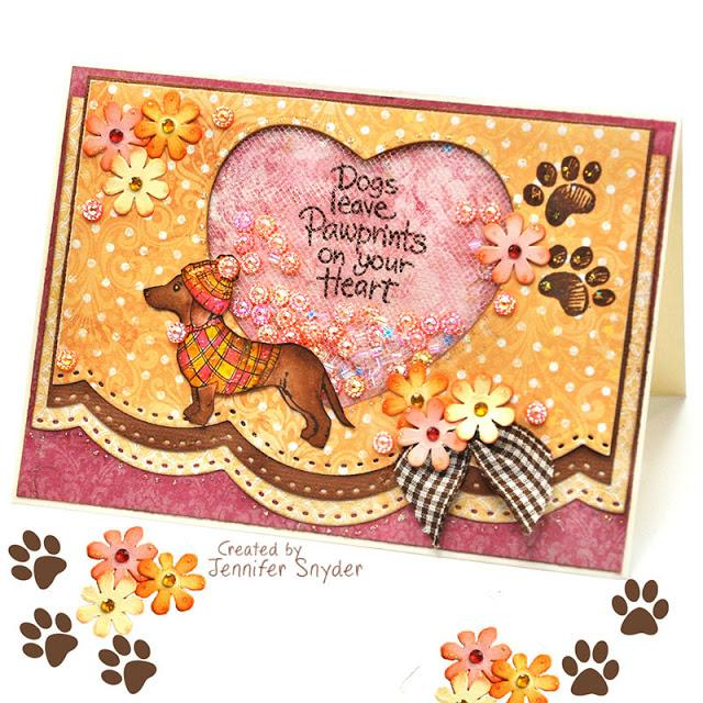 Sweet Puppy Dog Shaker Card | Buttons Galore and More