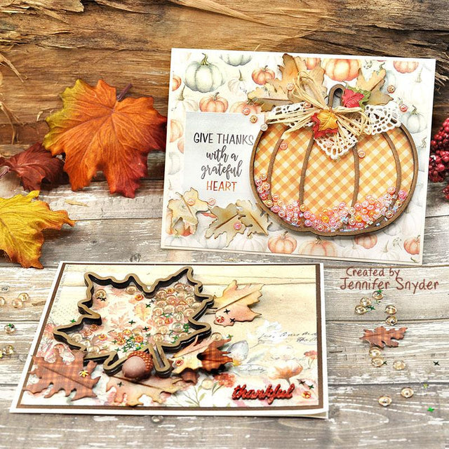 Thanksgiving Shaker Cards to Show Gratitude | Buttons Galore and More