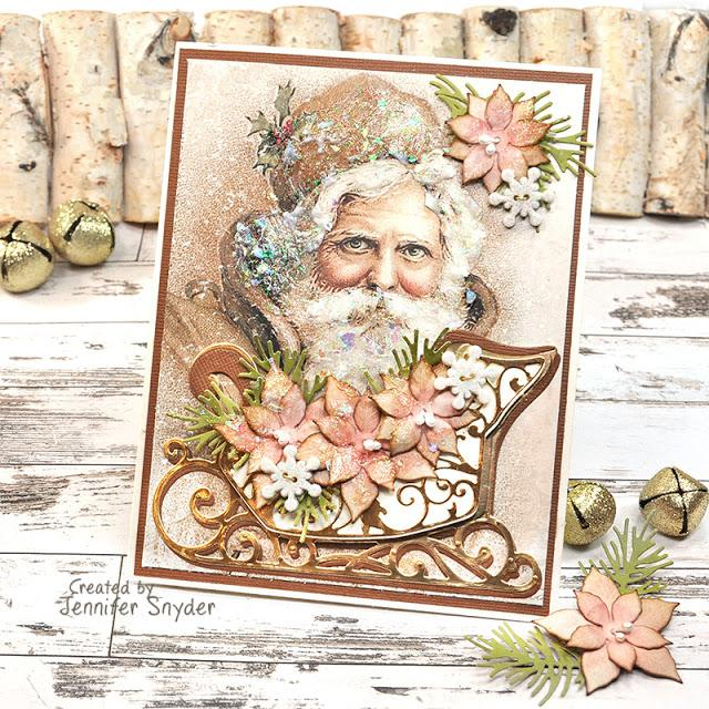 Vintage Sleigh Card | Buttons Galore and More