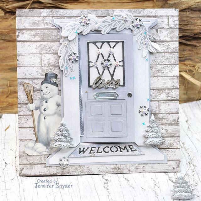 Welcome Home - Snowy Front Door Card | Buttons Galore and More