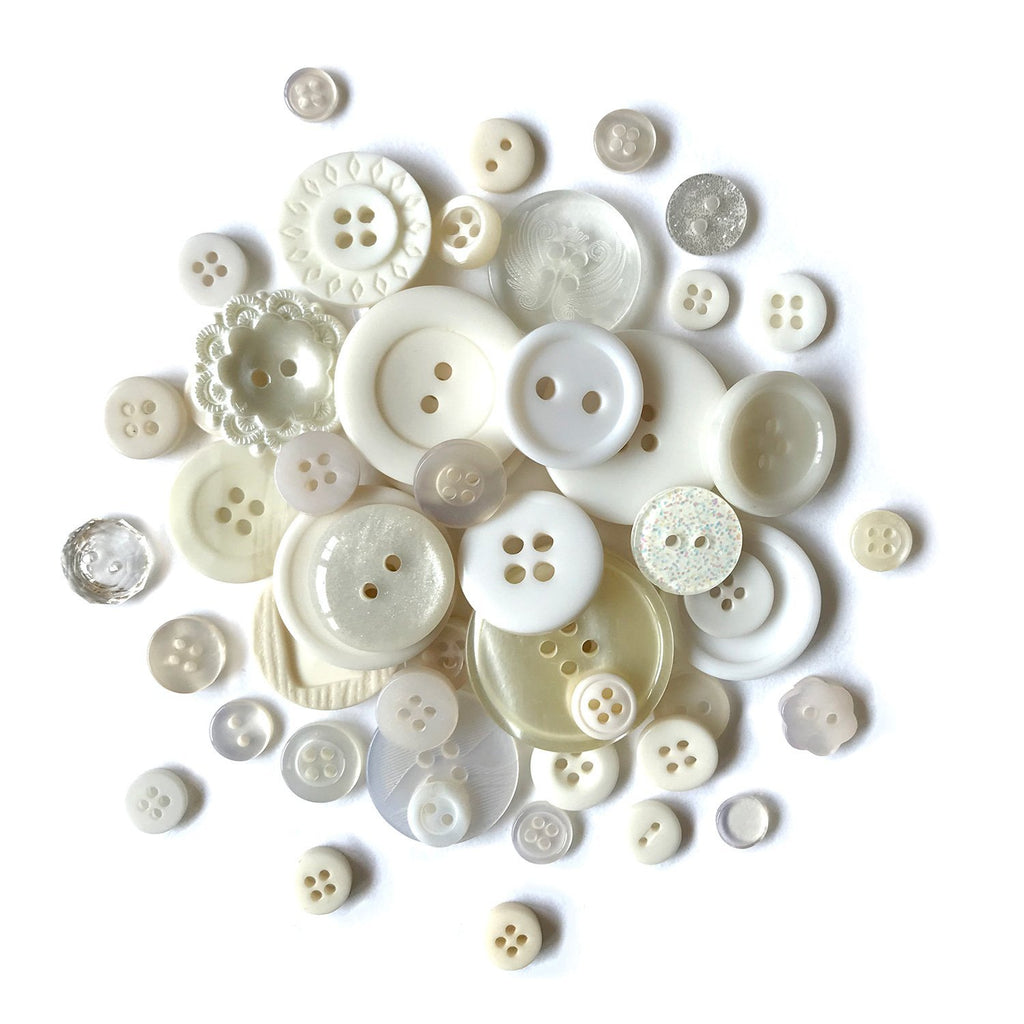Antique White-MJ112 - Buttons Galore and More