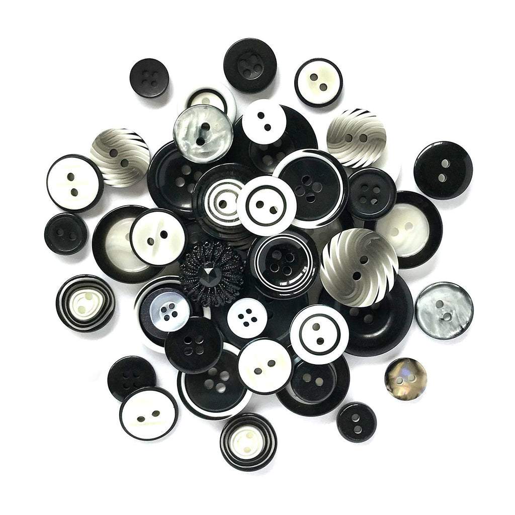 Black & White HAB111 - Buttons Galore and More