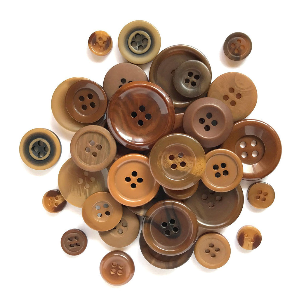 Chocolate Brown - BCB112 - Buttons Galore and More