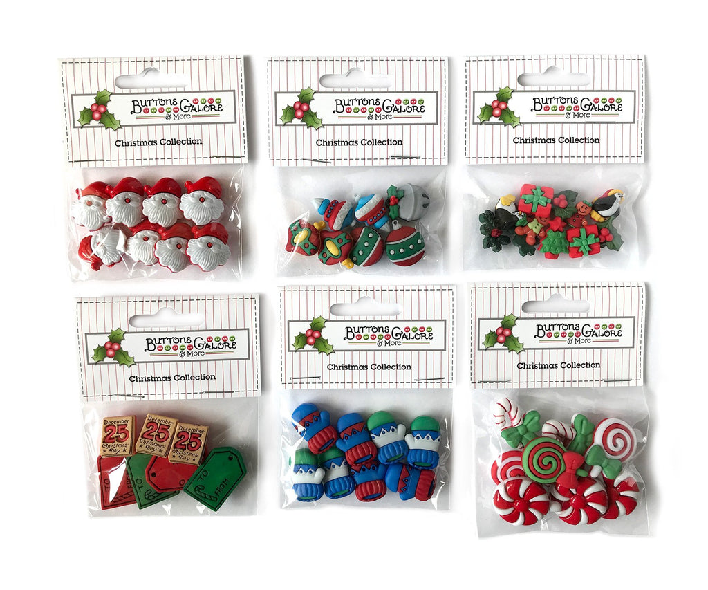 Christmas Group 1 - Set of 6 - Buttons Galore and More