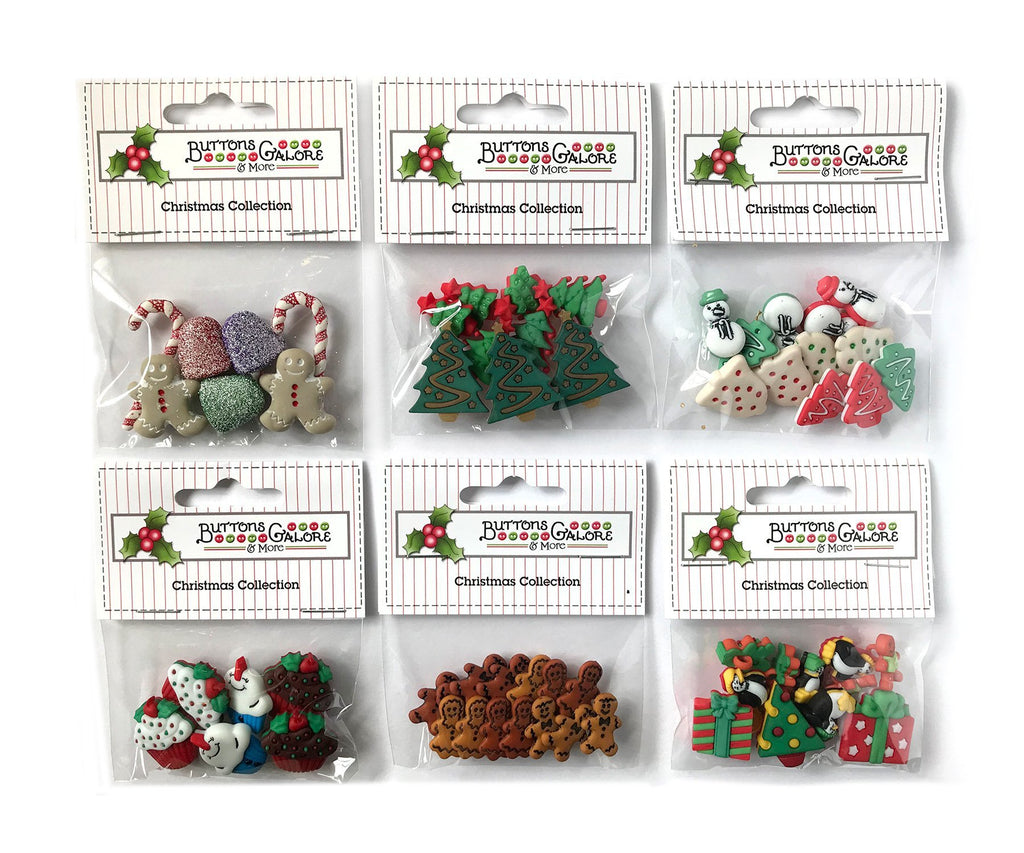 Christmas Group 3 - Set of 6 - Buttons Galore and More