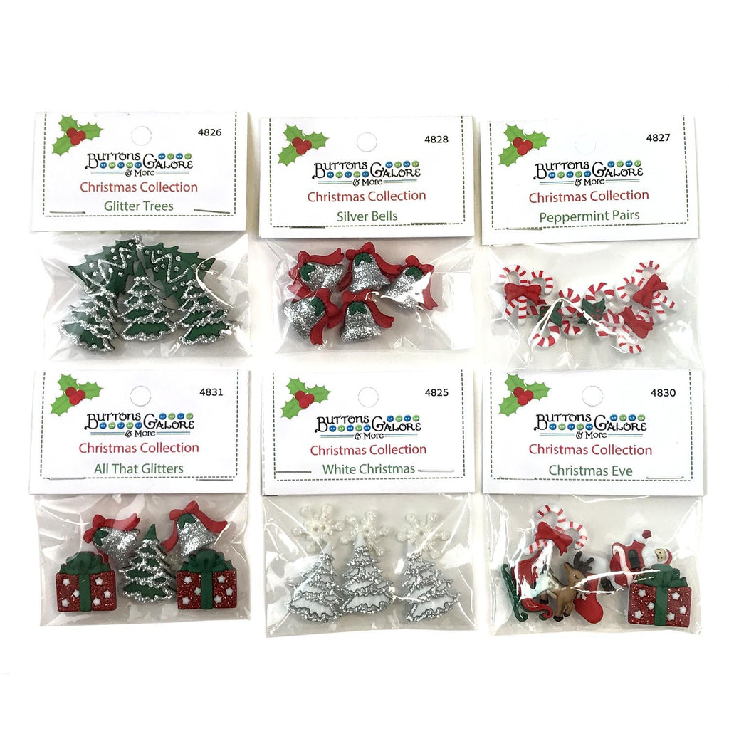 Christmas Group 4 - Set of 6 Packs - Buttons Galore and More