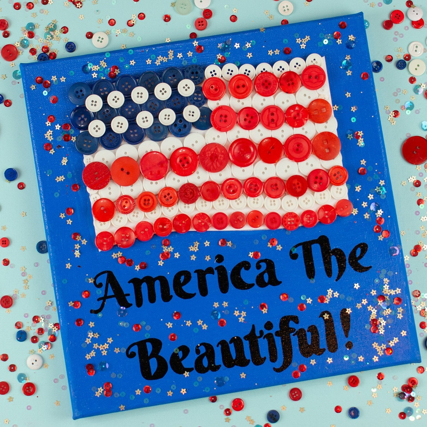 DIY America The Beautiful Wall Decor Kit