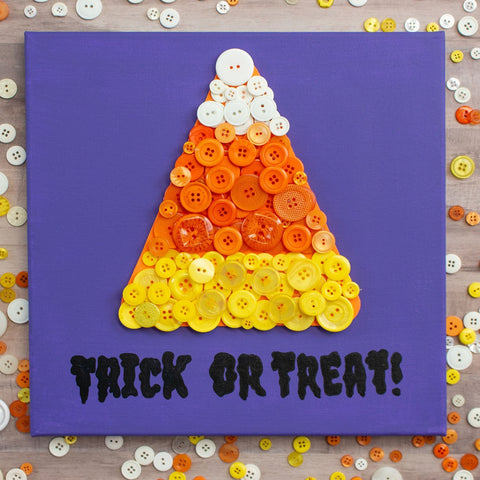 Easy DIY Candy Corn Canvas Wall Decor