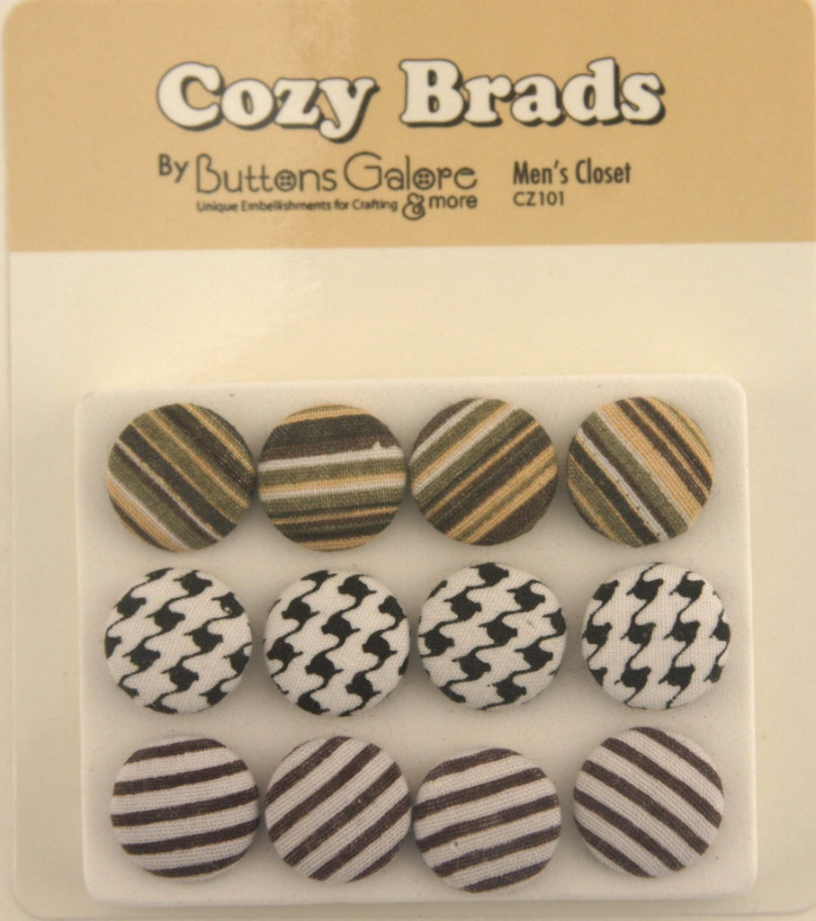Fabric Covered Brads - CZ101 - Buttons Galore and More