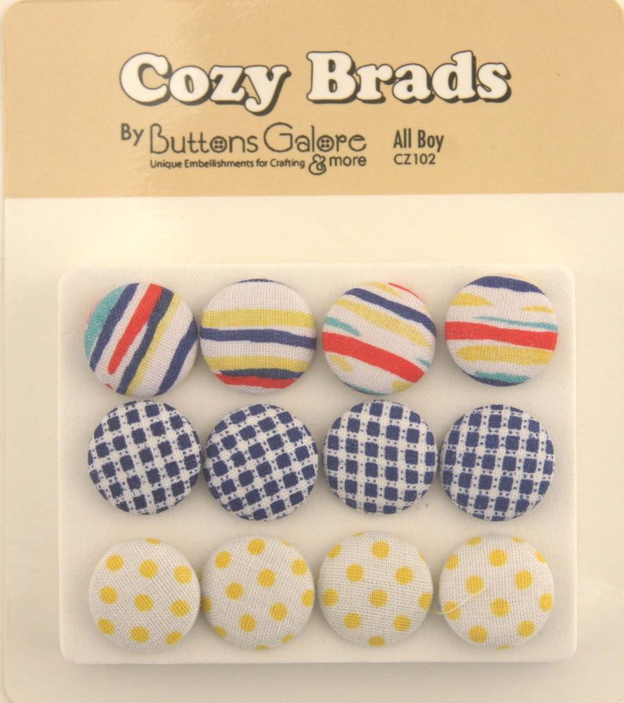 Fabric Covered Brads - CZ102 - Buttons Galore and More