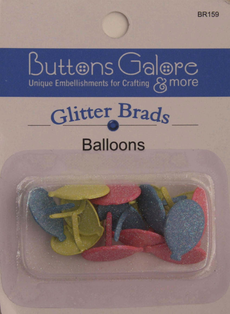 Glitter Brads Balloons - BR159 - Buttons Galore and More
