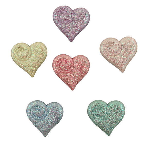 Glitter Hearts-4309 - Buttons Galore and More
