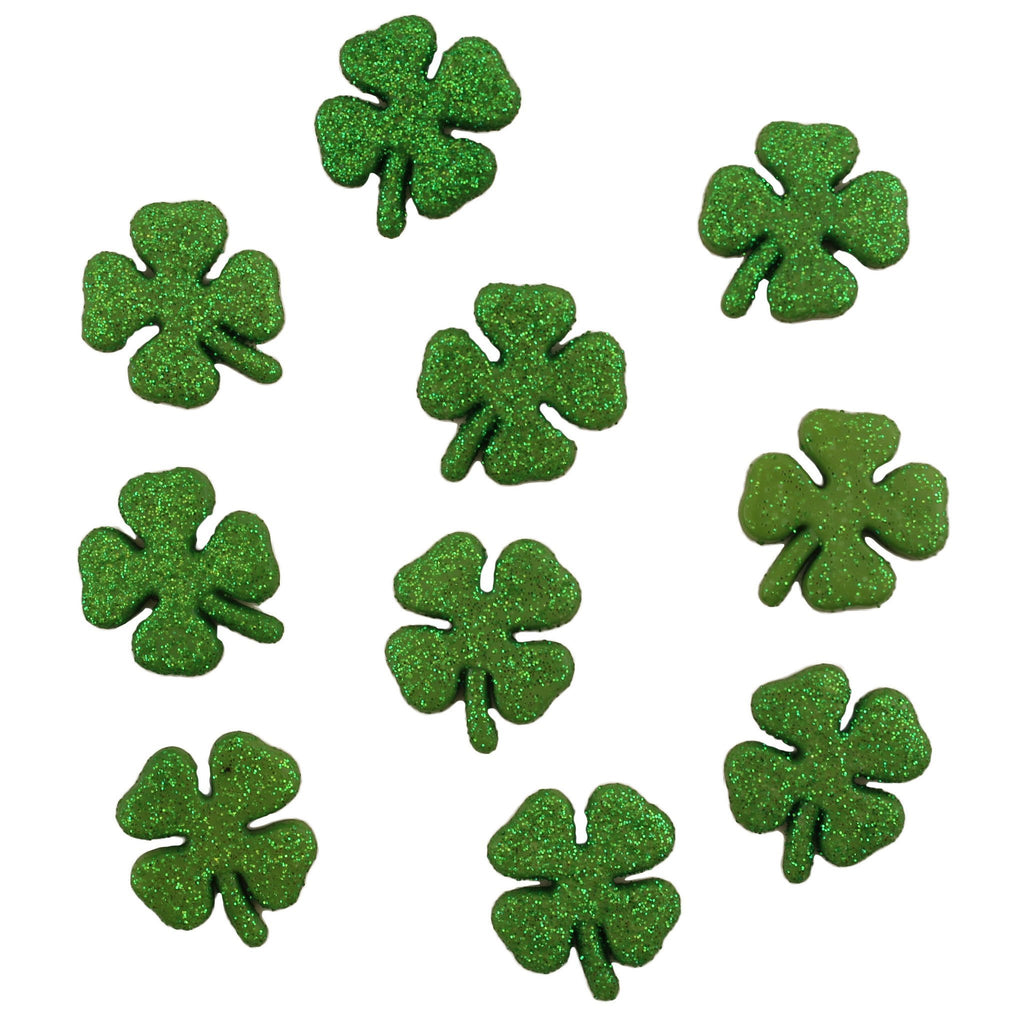 Glitter Shamrocks-4456 - Buttons Galore and More