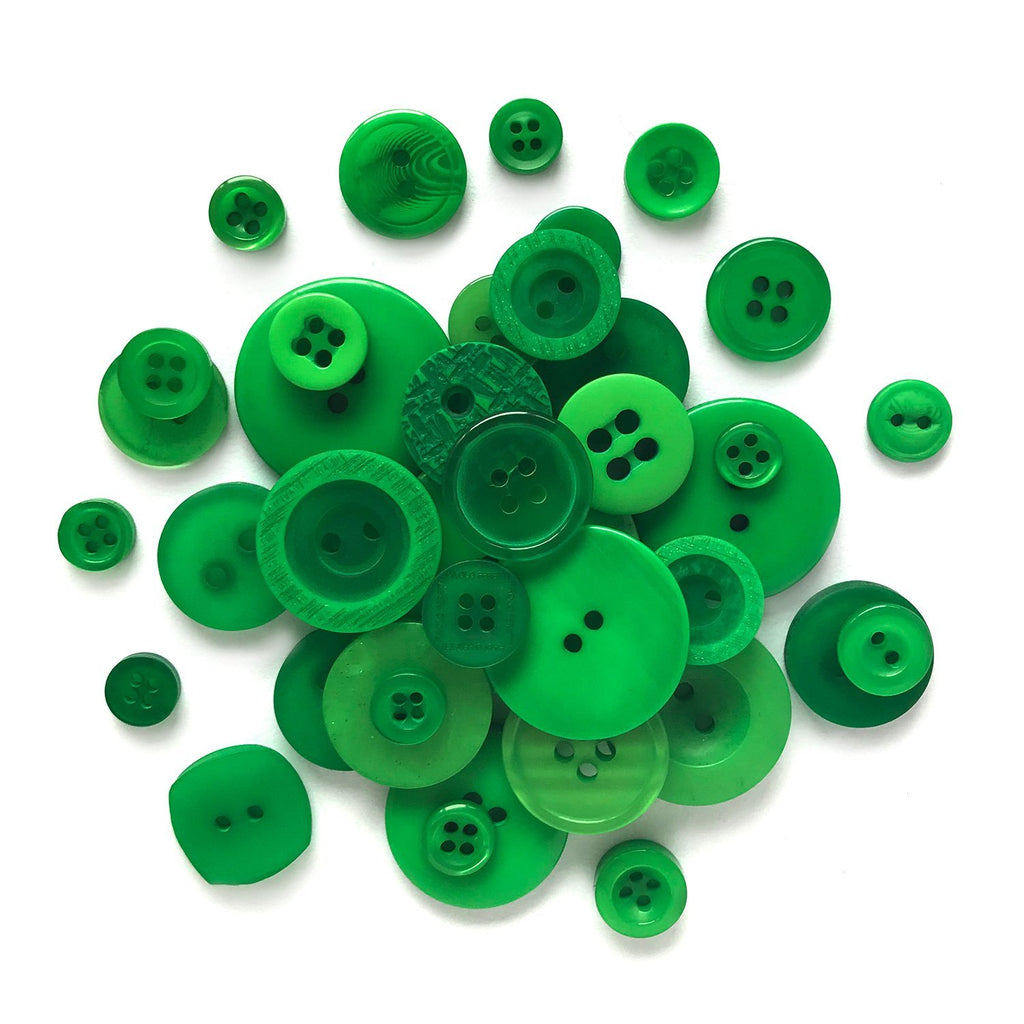 Green - BB27 - Buttons Galore and More