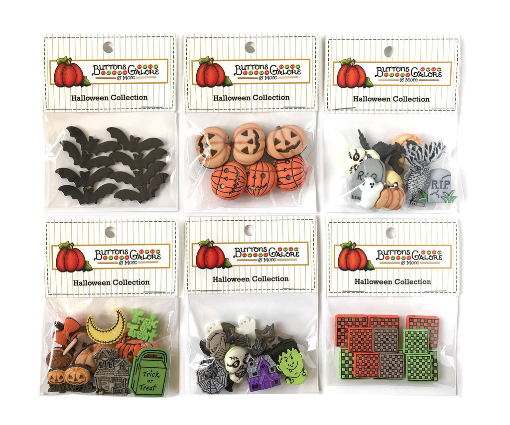 Halloween Group 2 -Set of 6 - Buttons Galore and More