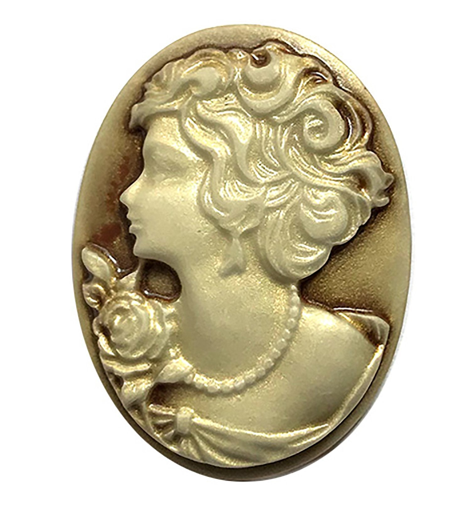 Large Cameo Resin Flat Back