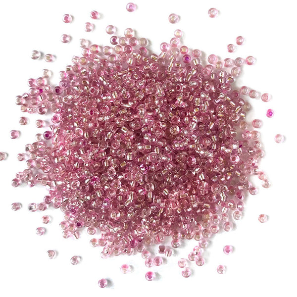 Light Rose Seed Beads - 11/0 - Buttons Galore and More