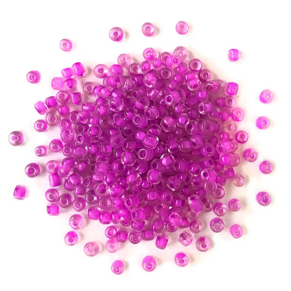 Magenta Seed Beads - 6/0 - Buttons Galore and More