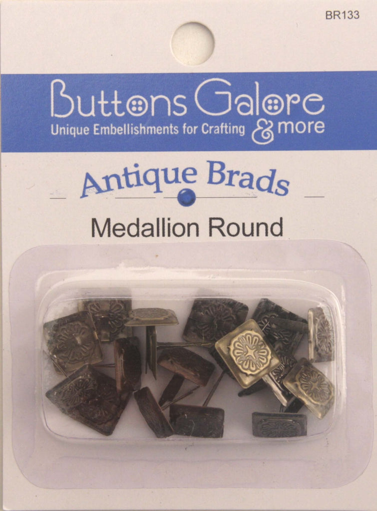 Medallion Round Brads - BR133 - Buttons Galore and More