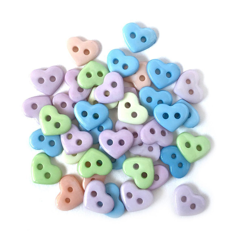 Pastel Hearts-1828 - Buttons Galore and More