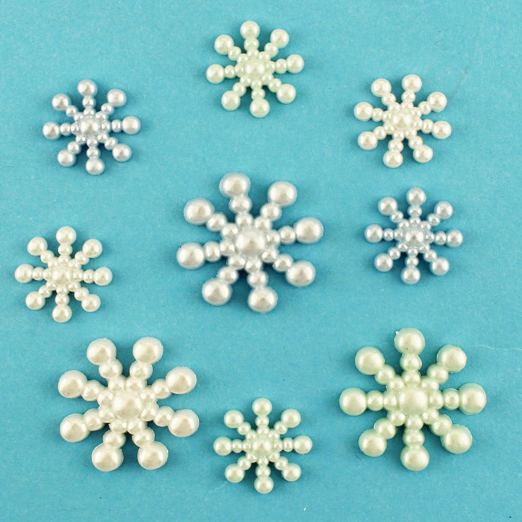 Pearl Snowflakes-4458 - Buttons Galore and More