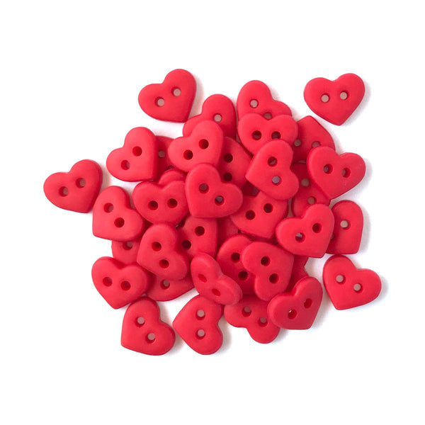 Red Hearts-1826 - Buttons Galore and More