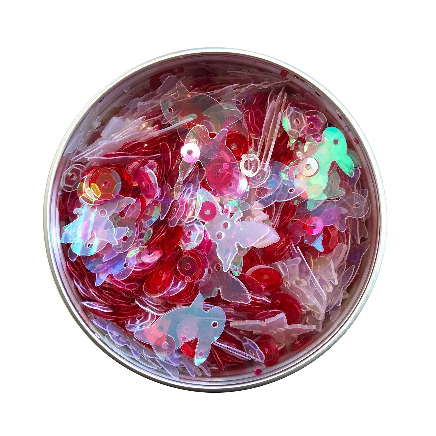 Rose Sequin Tin