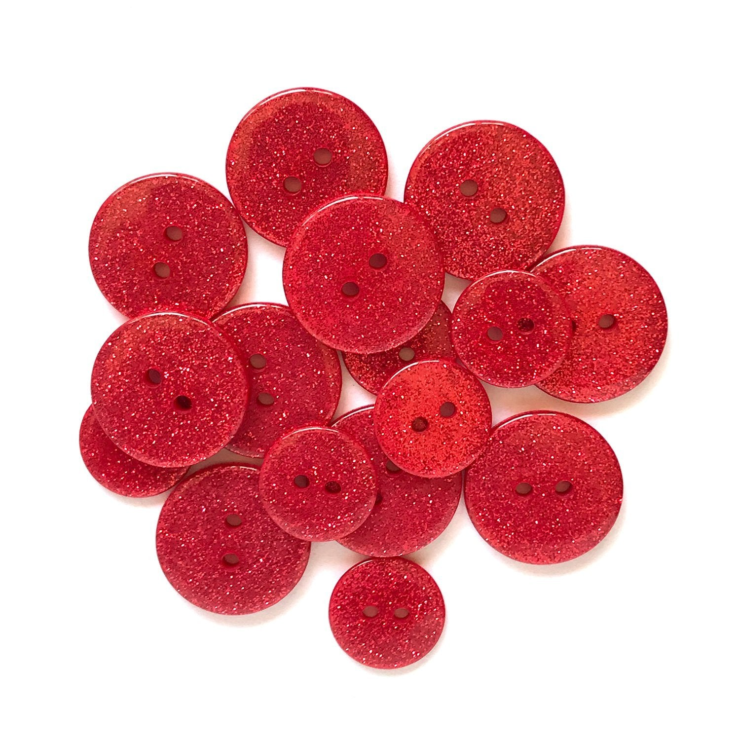 Ruby Sllippers Glitter Buttons - SUS100