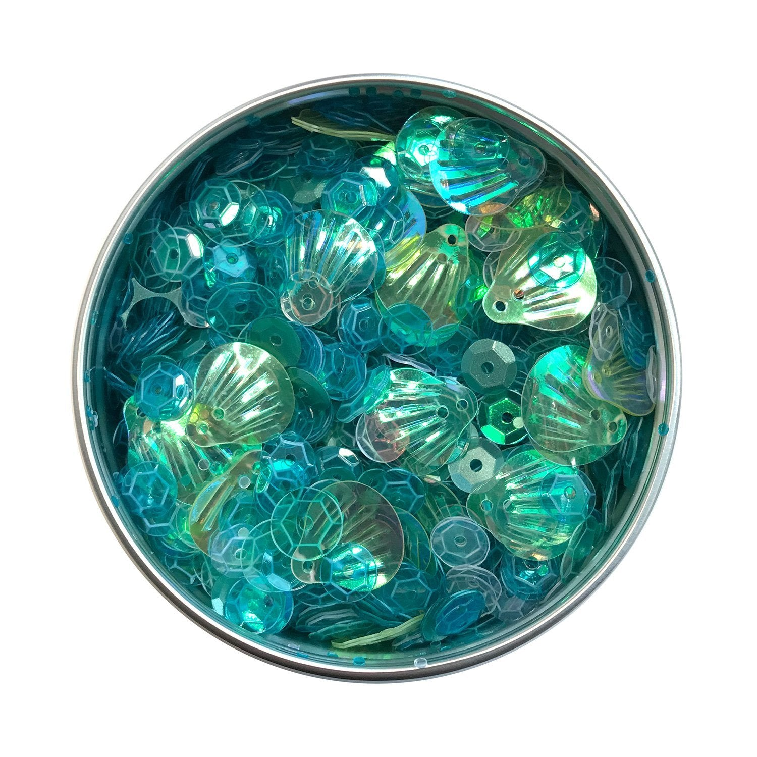 Seashell Sequin Tin
